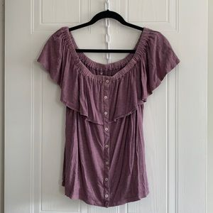 American Eagle Soft & Sexy Off the Shoulder Top